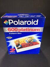 POLAROID 600 PLATINUM INSTANT FILM SEALED 2-PACK-20 PHOTOS TOTAL NEW OLD STOCK