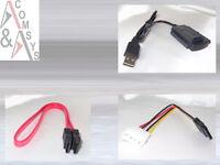 "Adapter USB auf SATA IDE 2.5"" 3.5"" 5.25"" Festplatte DVD CD + Daten- + Stromkabel"