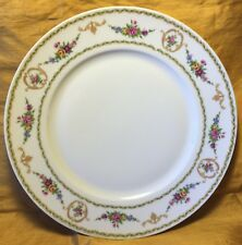 "Rare Tharaud LIMOGES Medaillon Floral Pattern 10.25"" Dinner Plate - France"