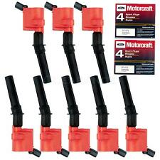 8 High Performance Ignition Coil DG-508 RED+ 8 Motorcraft Spark Plug SP-479