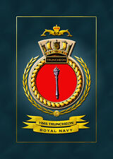 HMS TRUNCHEON FRAMED SHIPS CRESTS - HUNDREDS OF HM SHIPS IN STOCK
