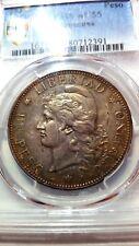 Argentina 1882 Peso - PCGS AU55