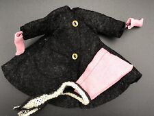 Betsy McCall Gray Wool Coat Pink Hat Mittens Outfit American Character 1957 B-1