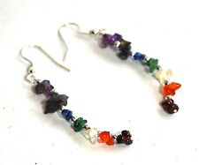 REIKI ENERGY CHARGED SEVEN CHAKRA CRYSTALS EARRINGS NATURAL HEALING GIFT