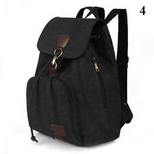 Fashion Men/Women's Canvas Travel Satchel Shoulder Bag Backpack School Rucksack