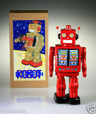 ME100 Retro Tin Robot Mr. D Cell Red Battery Operated Vintage Repro RETRO