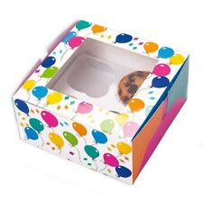Muffin-Box, 2 Schachteln für Torte, Kuchen, Süsses, mit Ballon-Motiven