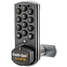 Combicam E 7910K10 Electronic Cabinet Lock Black Finish