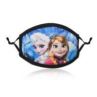 Kids Fashion Cotton Face Mask Washable Reusable Adjustable Double Layer Frozen