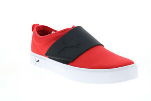 Puma EL Rey II Slip on 37478502 Mens Red Canvas Lifestyle Sneakers Shoes