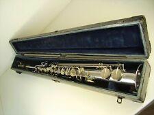 Antikes Seltenes Sopran Saxophone Savana Paris im Kasten vor 1945