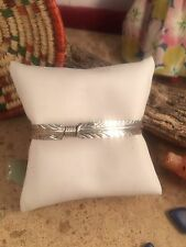 Navajo  Sterling Silver Feather Cuff Bracelet by Vivian Begay