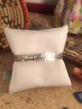 Navajo  Sterling Silver Feather Cuff Bracelet by Vivian Begay