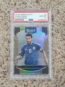 2016-17 Panini Select Lionel Messi Silver Prizm Argentina No.2 PSA 10 🐐🔥