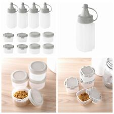 Plastic Seasoning Spice Box Jar Condiment Oil Bottle Storage Container with Lid