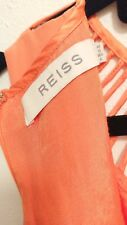 REISS Orange Fun Silk Cocktail Dress UK 10/AU 10