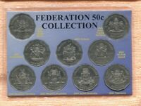 2001 Centenary Of Federation States 50 Cent coin (Set Of 9)  Carded J-734