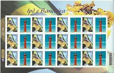 BRAZIL 2009, IPE E BANDEIRA, LIGHTHOUSE, FLAG, 12  VALUES + LABELS, FULL SHEET