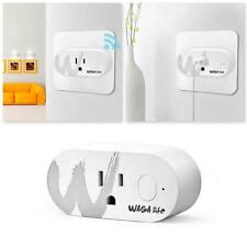 1* Mini Wi-Fi US Plug Sockets 2.4GHz 16A Max Load Wireless Smart Outlet White