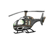 Helicopter - Pilot - Transportation - Flying - Embroidered Iron On Patch