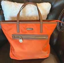 Beautiful Michael Kors XLarge Orange Hamilton Nylon Tote Bag~Very Good Cond.