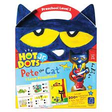 Educational Insights Hot Dots Jr Pete The Cat I Love Preschool! Card Set Age 3-4
