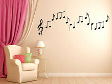 """Musical Note Vinyl Wall Decals Boys and Girls Music Graphics 6"""" Tall"""