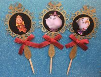 Beauty And The Beast Party Supplies Cupcake Picks 12