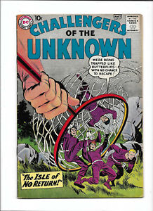 """CHALLENGERS OF THE UNKNOWN #7 [1959 VG+]  """"THE ISLE OF NO RETURN!"""""""