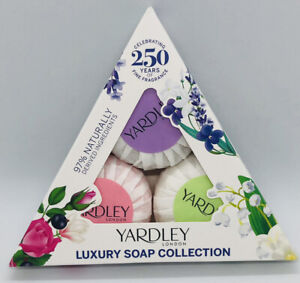 Yardley Luxury Soap Collection English Lavender Rose Lily of the Valley 3 x 50g