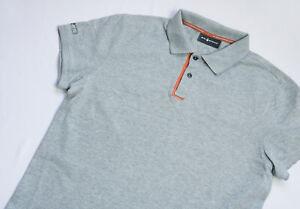 Sail Racing RACE Polo shirt mens Short Sleeve top size L Large Slim grey Sailing