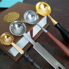Brass Spoon For Melting Wax Steel Letter Envelope Seal Stamp Craft UK