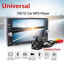 "7651D 6.6"" Touch Screen Car MP5 Media 2DIN Bluetooth FM Radio Stereo Player 2USB"