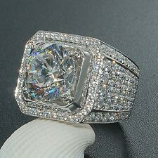 New Fashion Women 925 Silver White Topaz Ring Wedding Engagement Jewelry Size 8