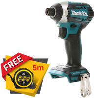 Makita DTD154 18v Brushless Impact Driver With Free Pocket Tape Measures 5M/16ft