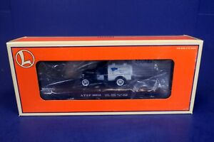 Lionel O Scale Route 66 Flat Car w/ 1938 Ford Milk Truck Load 6-17529