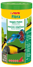 Sera Flora Veggie Flakes 210g Floating Fish Food for all Surface eating Fish