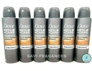 6x Dove MEN+Care Talc Mineral & Sandalwood / Talco Mineral & Sandalo Deodorant