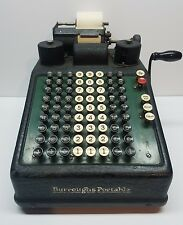Burroughs Adding Machine Vintage 1920's Portable Accounting Pre Calculator