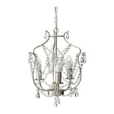 PETITE AUSTRIAN CRYSTAL 3 Light SILVER finish Elegant Chandelier-Plugin Option +