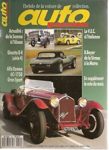 AUTO PASSION 55 ALFA ROMEO 6C 1750 GRAN SPORT 1930 GINETTA G4 BERNARD BOYER