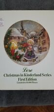 Goebel Christmas In Kinderland Series 1St Edition 1981 Plate Limited Signed Lore