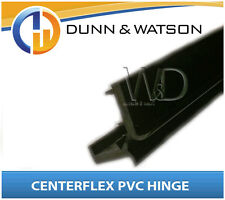 PVC Door Hinge - Centaflex, Black Plastic in 3000mm length. Water and dust proof