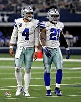 "Dak Prescott and Ezekiel Elliott Dallas Cowboys Unsigned 8"" x 10"" Photo"