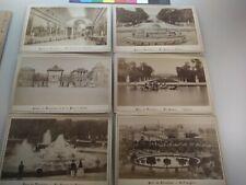 (6) Parc de Versailles France Cabinet Card Photographs