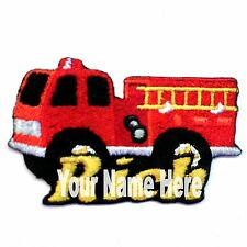 Fire Truck Custom Iron-on Patch With Name Personalized Free