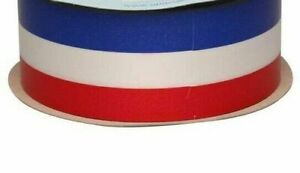 1 metre 50mm wide WATERPROOF POLY RIBBON RED/WHITE/BLUE FRENCH FLAG