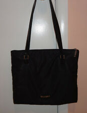 Authentic Vintage Moschino Large Black Nylon Tote Shoulder Bag Made in Italy