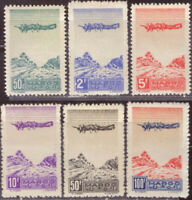French Morocco 1944 Airmail Commemorative Set #C27 - C32 mint NH Complete