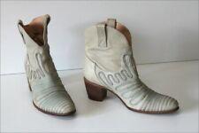 MURATTI Bottines Boots Cuir Gris Clair Doublées Cuir T 38 TBE